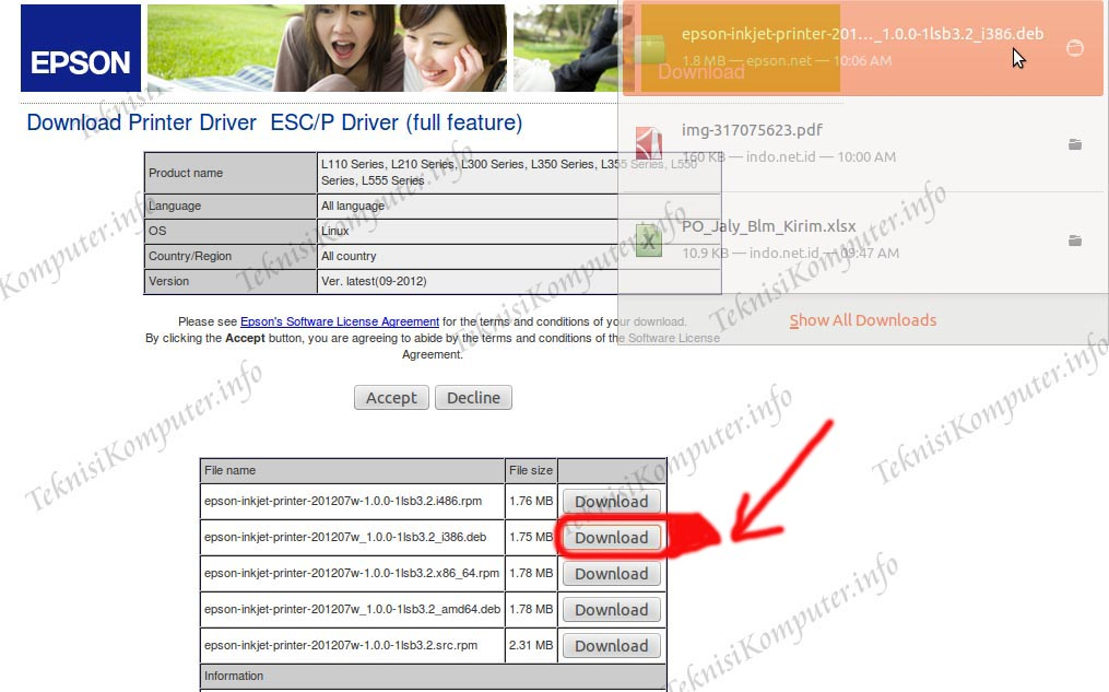 Epson L210 Printer Driver For Ubuntu 12.04